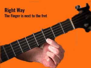 guitar finger pressing 1